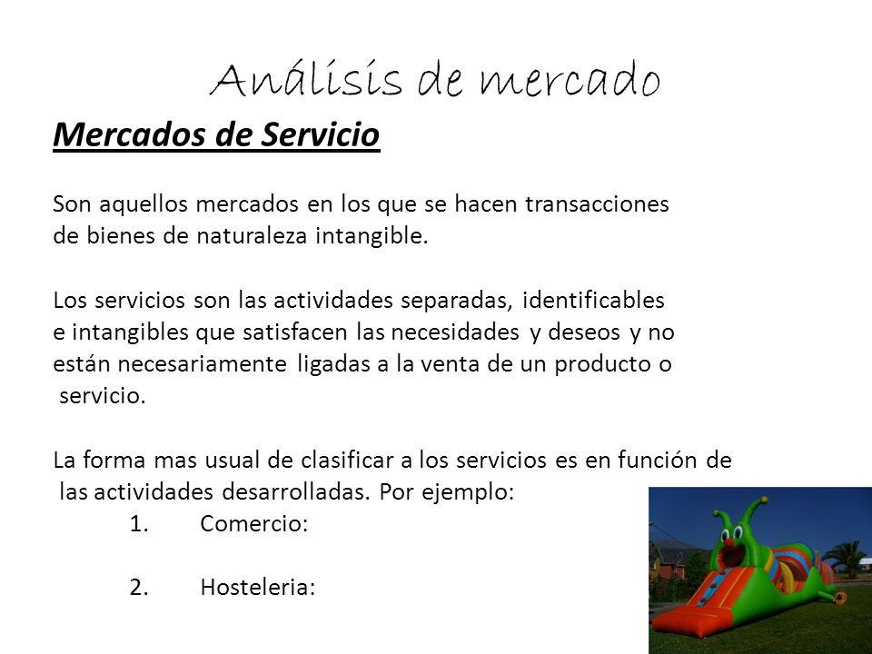 Análisis de mercado Mercados de Servicio