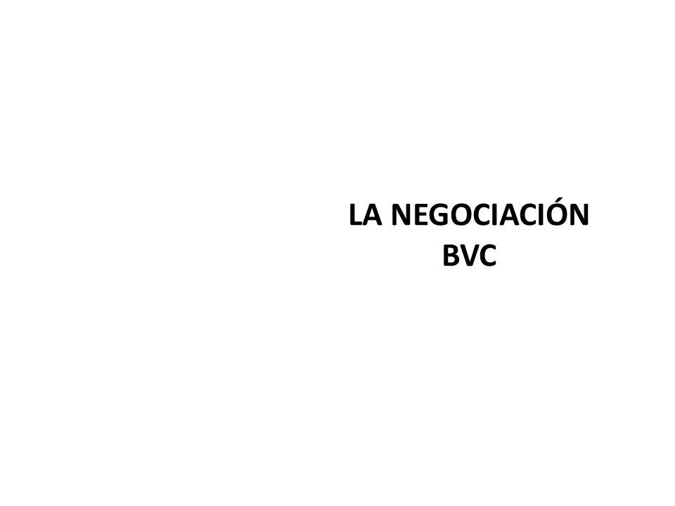LA NEGOCIACIÓN BVC