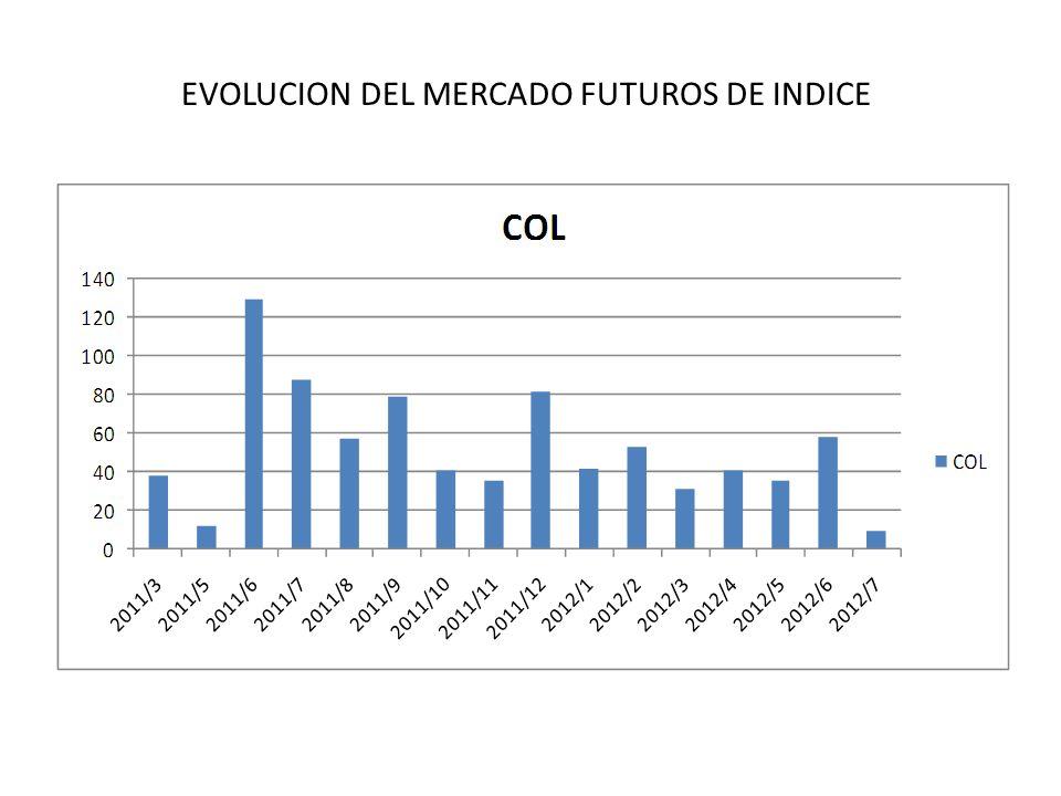EVOLUCION DEL MERCADO FUTUROS DE INDICE