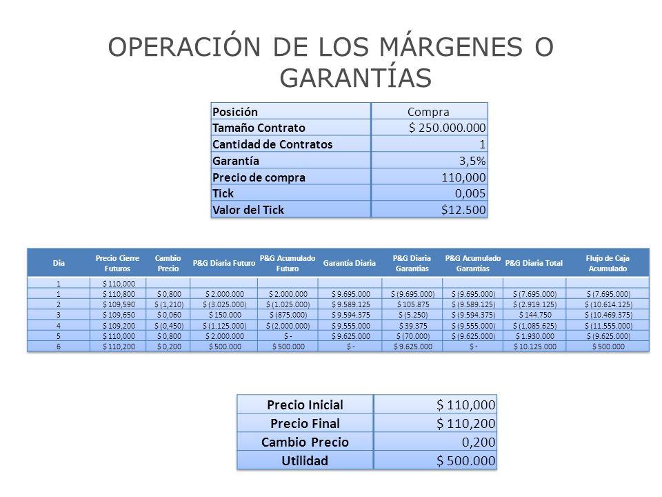 P&G Acumulado Garantías Flujo de Caja Acumulado