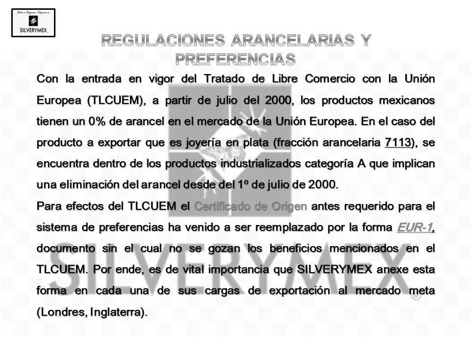 REGULACIONES ARANCELARIAS Y PREFERENCIAS