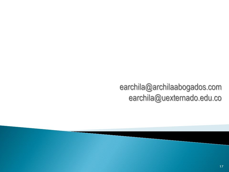earchila@archilaabogados.com earchila@uexternado.edu.co