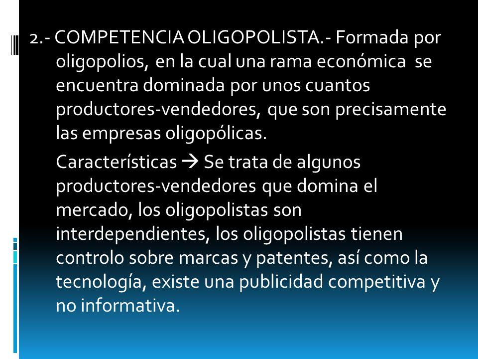 2. - COMPETENCIA OLIGOPOLISTA