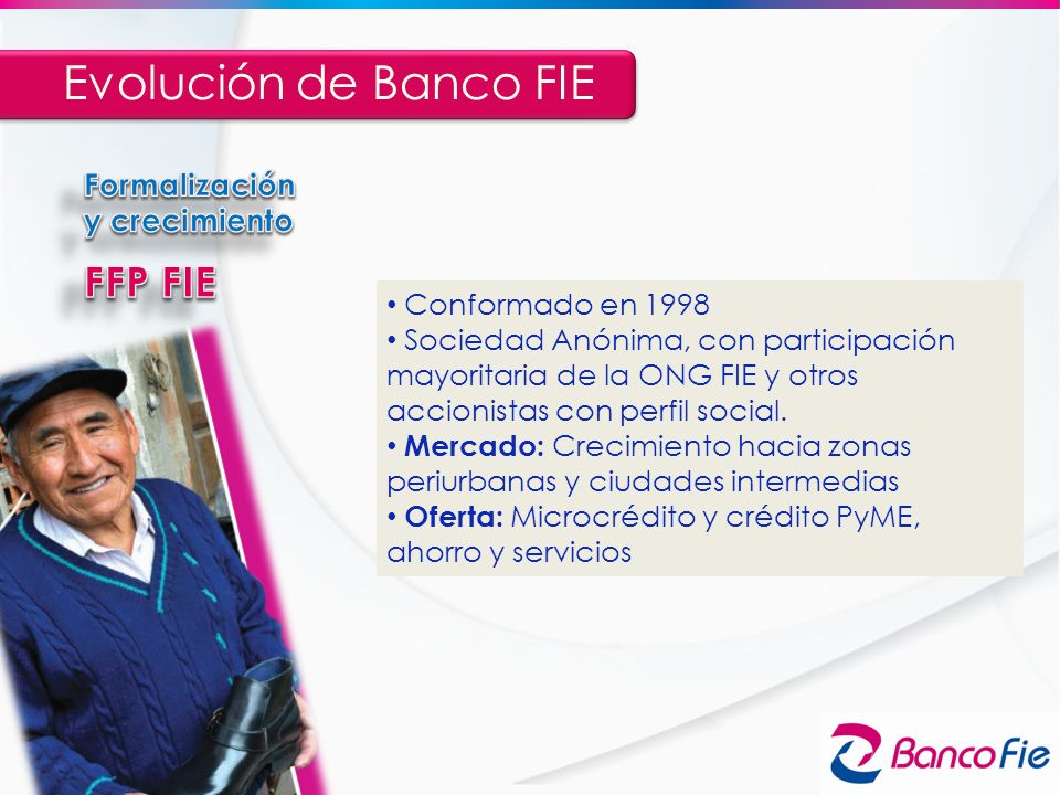 Evolución de Banco FIE FFP FIE Formalización y crecimiento