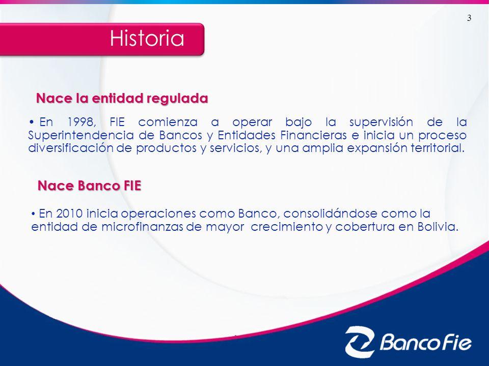 Historia Nace la entidad regulada Nace Banco FIE