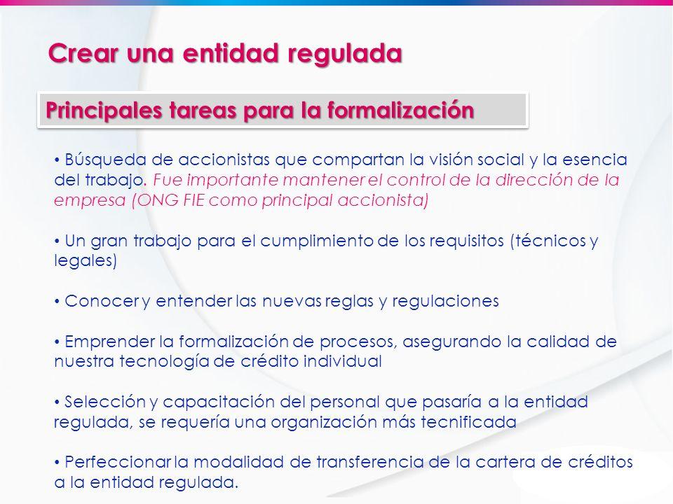 Crear una entidad regulada