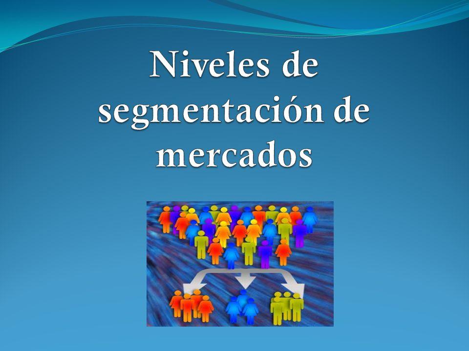 Niveles de segmentación de mercados