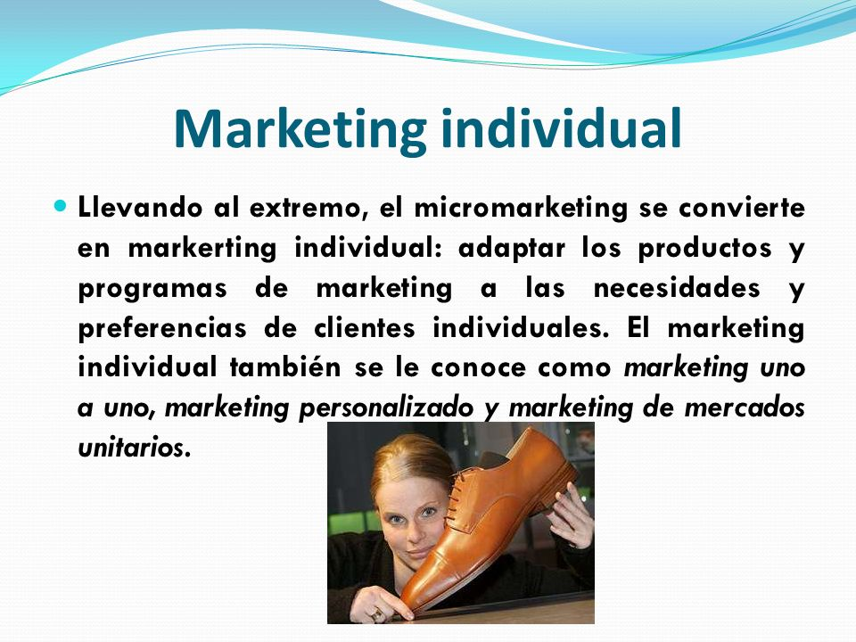 Marketing individual