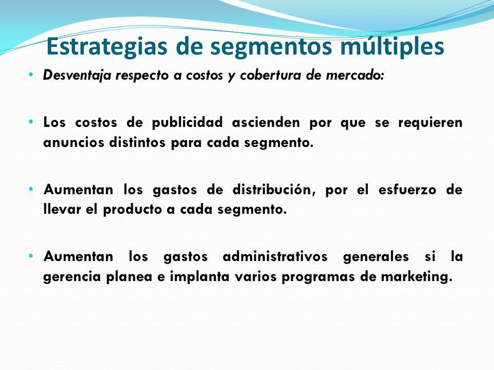Estrategias de segmentos múltiples