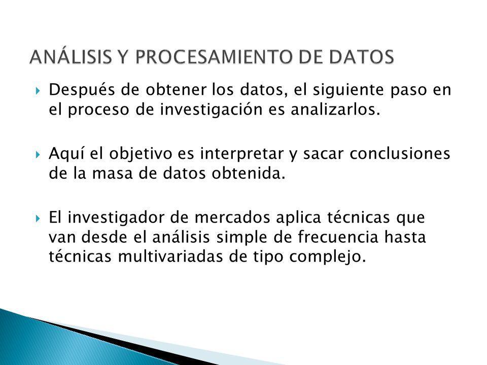 ANÁLISIS Y PROCESAMIENTO DE DATOS
