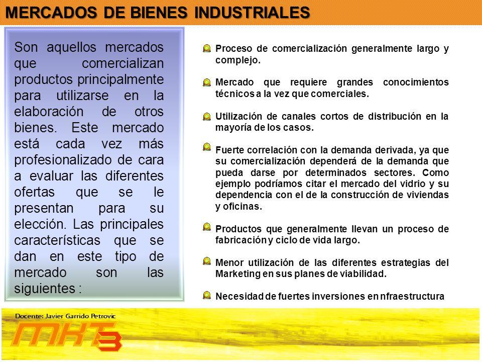MERCADOS DE BIENES INDUSTRIALES