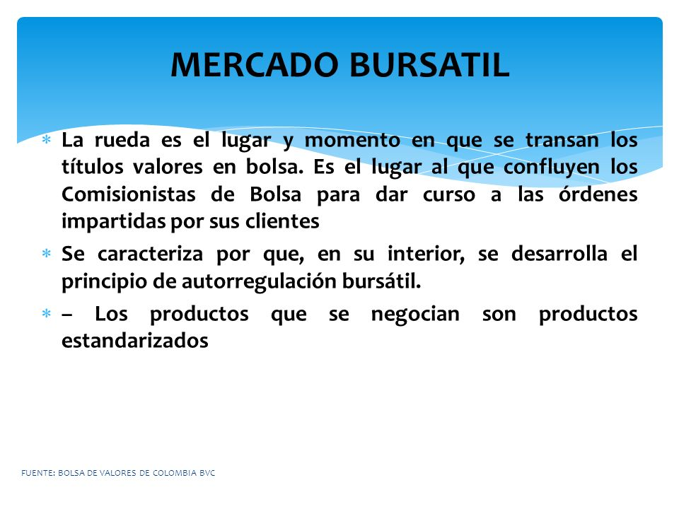 MERCADO BURSATIL