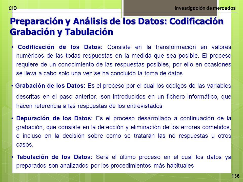 Preparación y Análisis de los Datos: Codificación