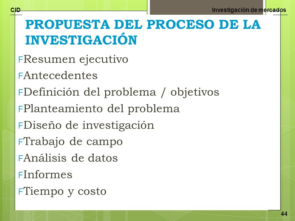 PROPUESTA DEL PROCESO DE LA INVESTIGACIÓN
