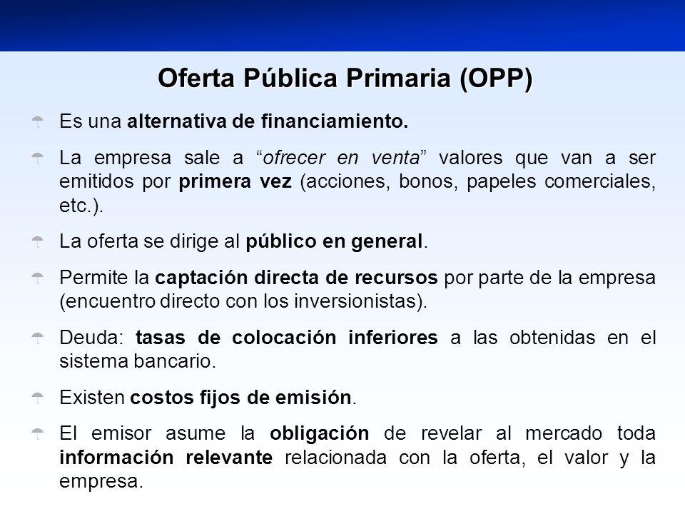 Oferta Pública Primaria (OPP)