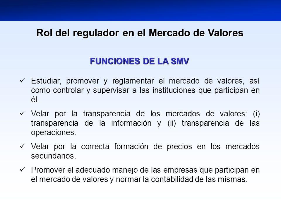 Rol del regulador en el Mercado de Valores