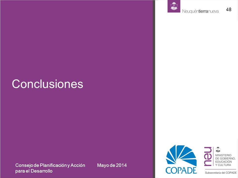 Conclusiones Consejo de Planificación y Acción para el Desarrollo