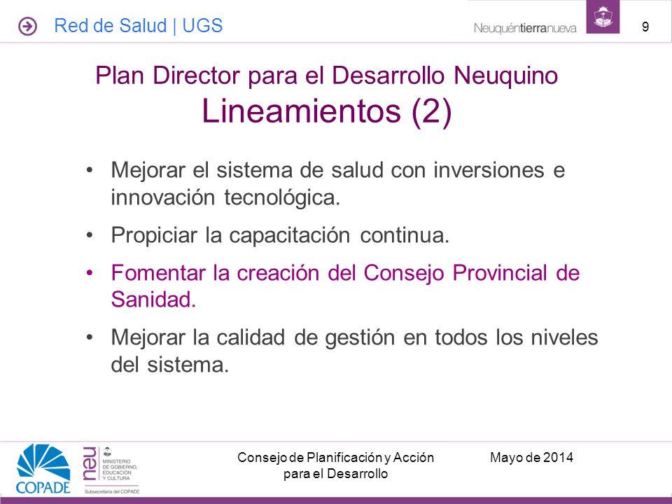 Plan Director para el Desarrollo Neuquino Lineamientos (2)