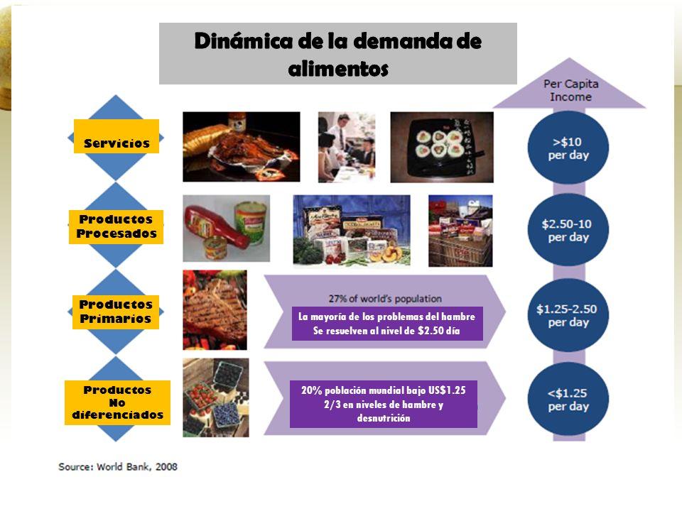 Dinámica de la demanda de alimentos