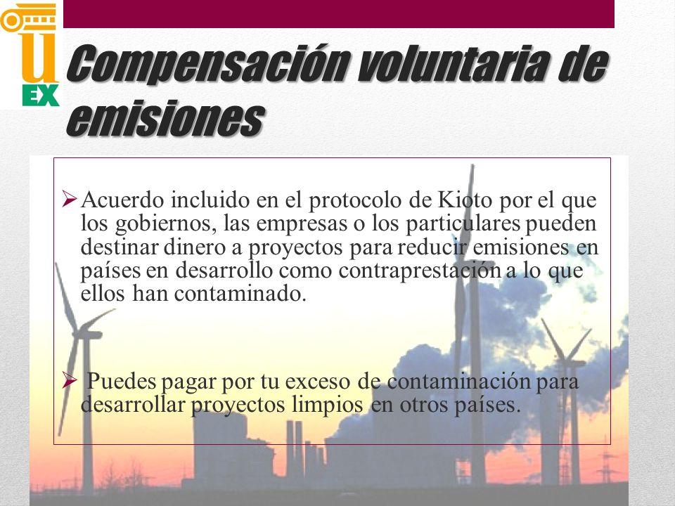 Compensación voluntaria de emisiones