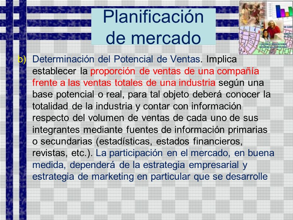 Planificación de mercado