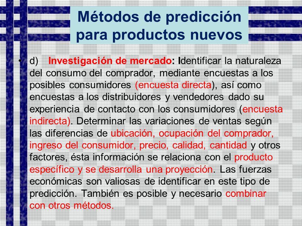 Métodos de predicción para productos nuevos