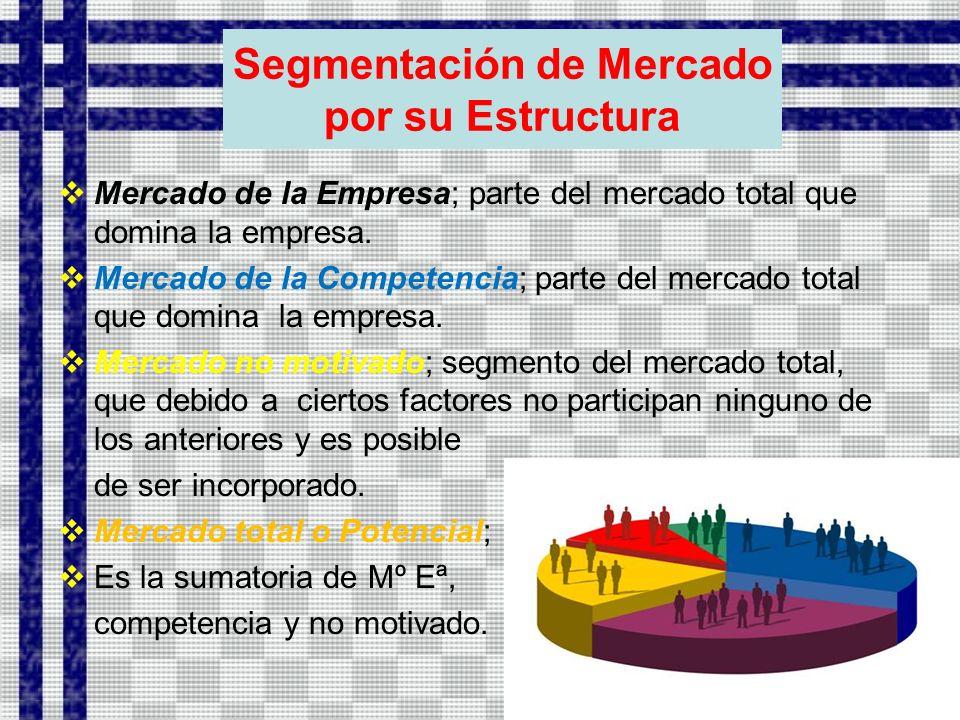Segmentación de Mercado por su Estructura