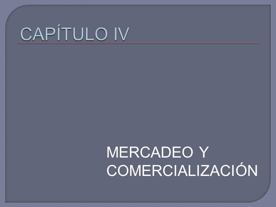 CAPÍTULO IV MERCADEO Y COMERCIALIZACIÓN