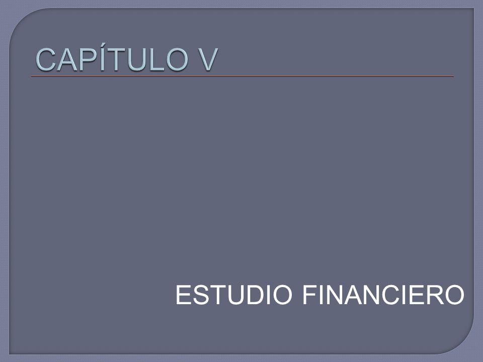 CAPÍTULO V ESTUDIO FINANCIERO