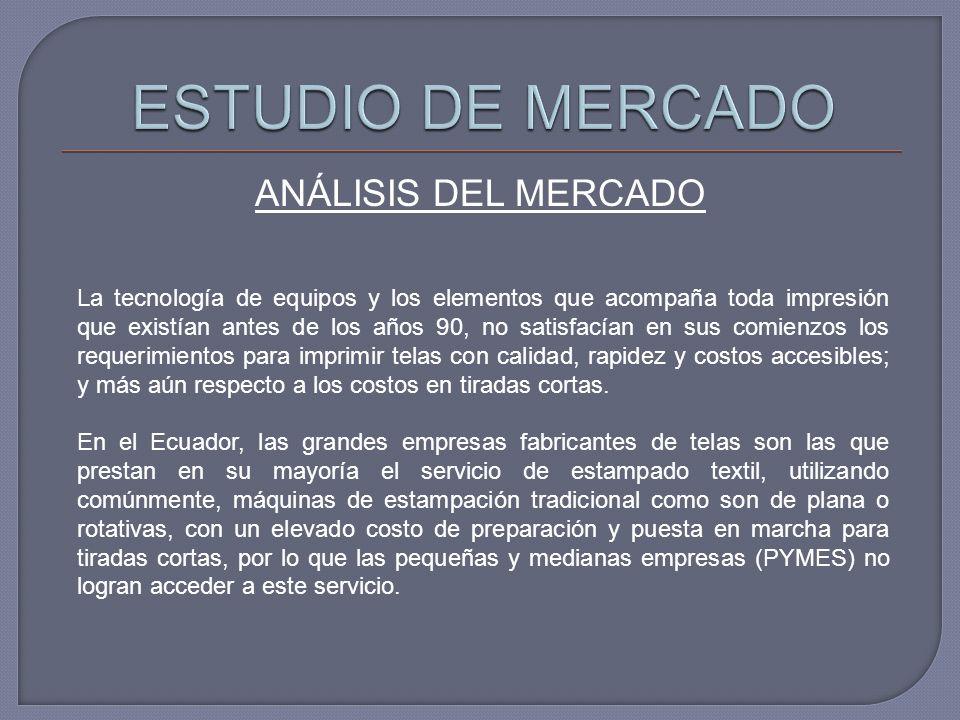 ESTUDIO DE MERCADO ANÁLISIS DEL MERCADO
