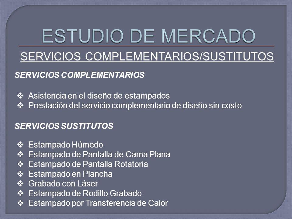 SERVICIOS COMPLEMENTARIOS/SUSTITUTOS