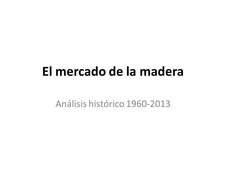 El mercado de la madera Análisis histórico 1960-2013