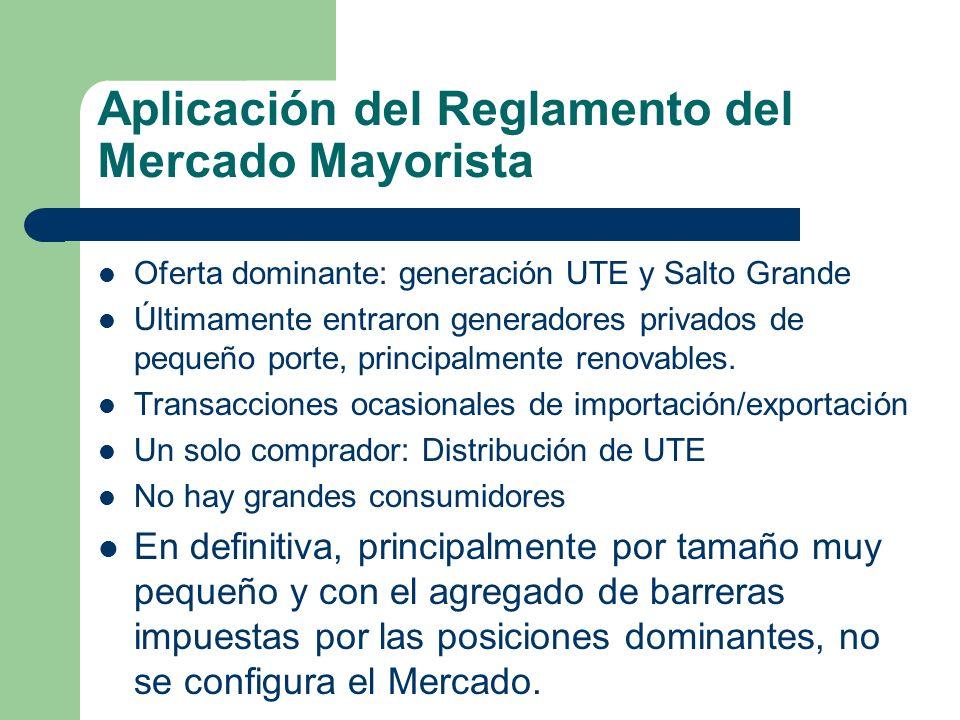Aplicación del Reglamento del Mercado Mayorista