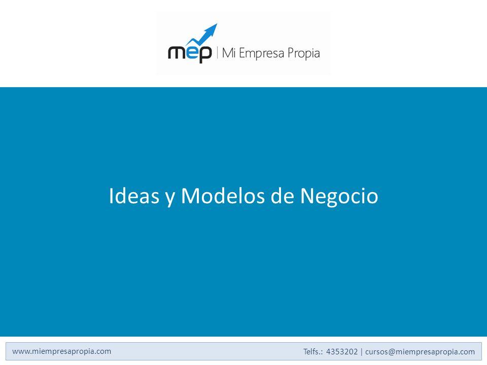 Ideas y Modelos de Negocio