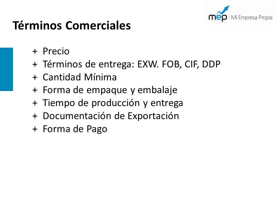 Términos Comerciales + Precio