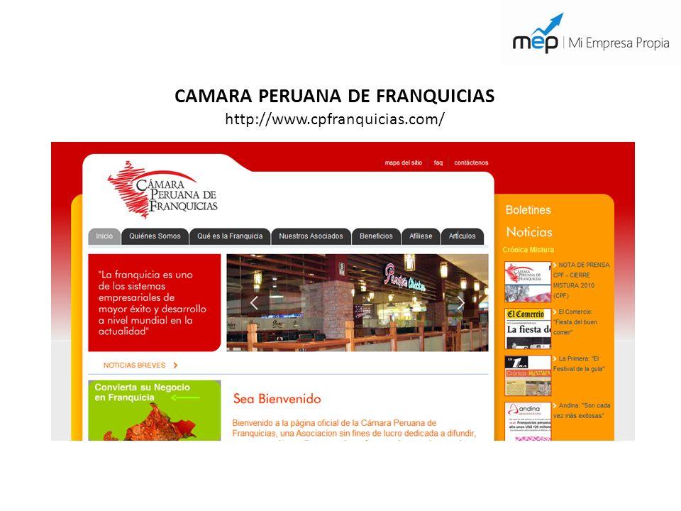 CAMARA PERUANA DE FRANQUICIAS