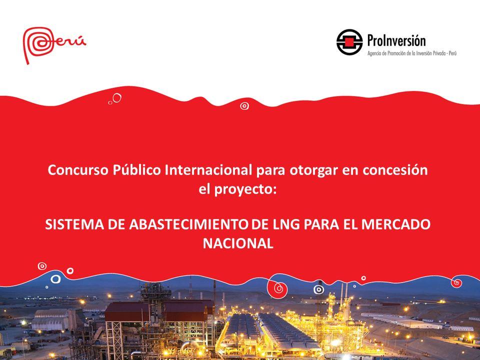 Concurso Público Internacional para otorgar en concesión el proyecto: