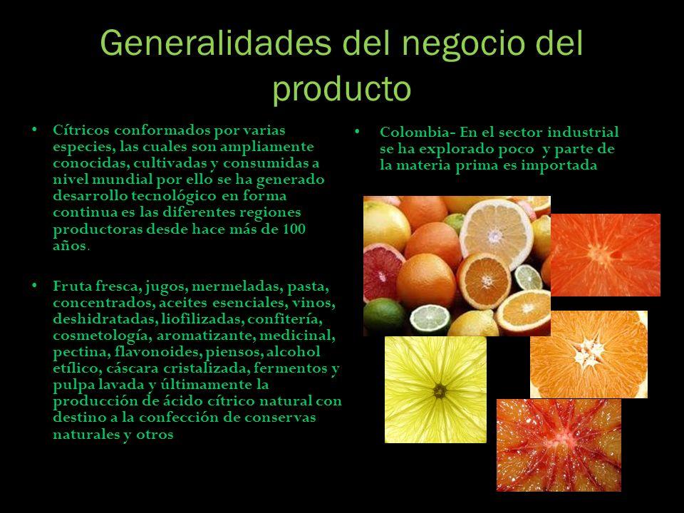Generalidades del negocio del producto