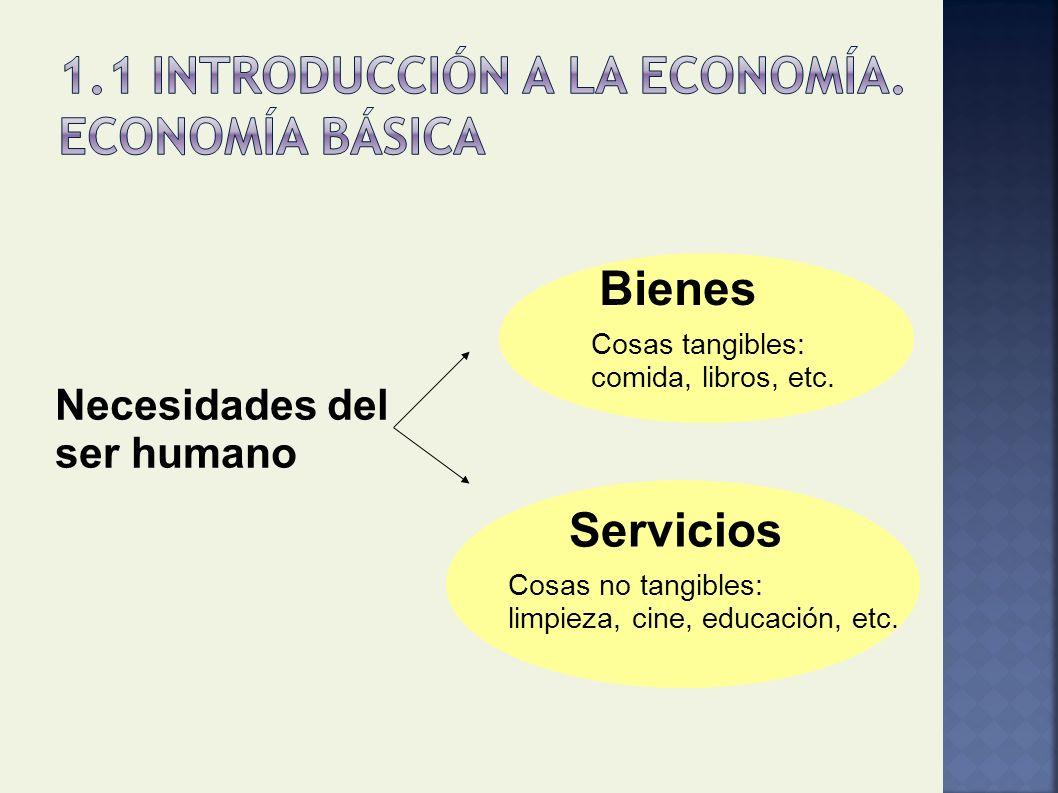1.1 Introducción a la Economía. Economía básica