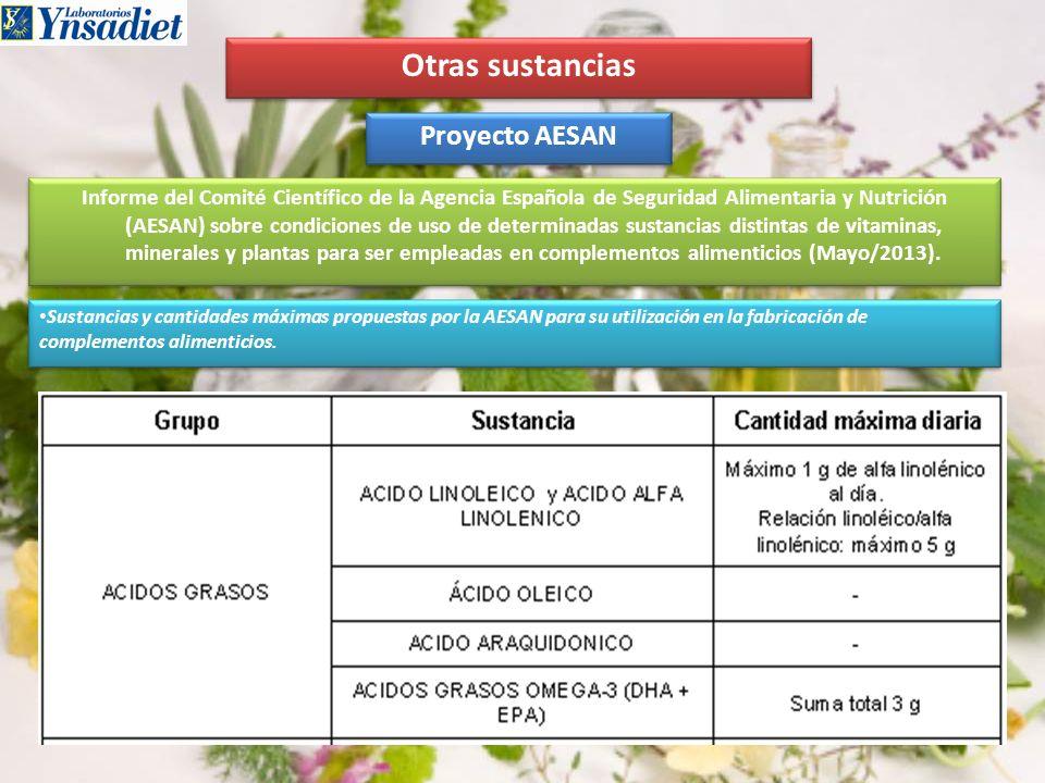 Otras sustancias Proyecto AESAN