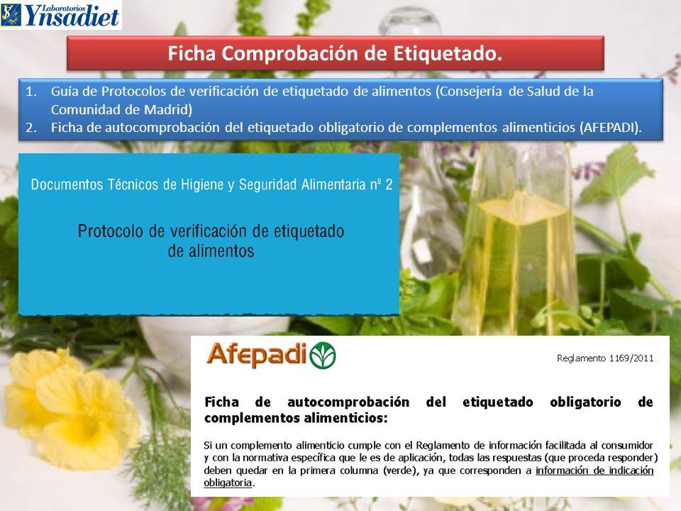 Ficha Comprobación de Etiquetado.