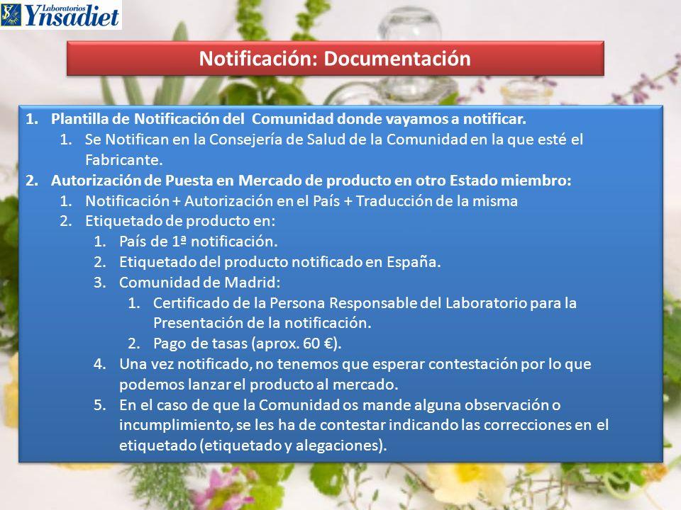 Notificación: Documentación
