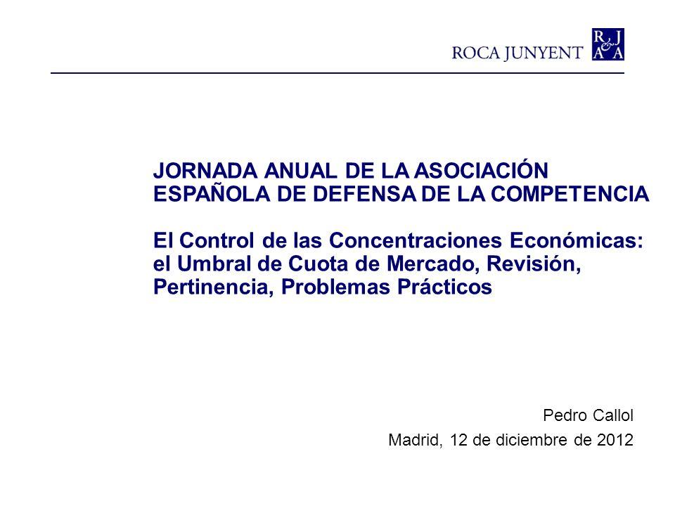 JORNADA ANUAL DE LA ASOCIACIÓN ESPAÑOLA DE DEFENSA DE LA COMPETENCIA