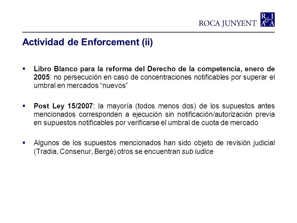 Actividad de Enforcement (ii)