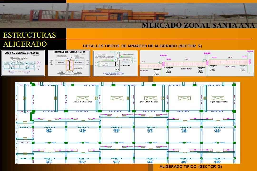 MERCADO ZONAL SANTA ANA ESTRUCTURAS ALIGERADO