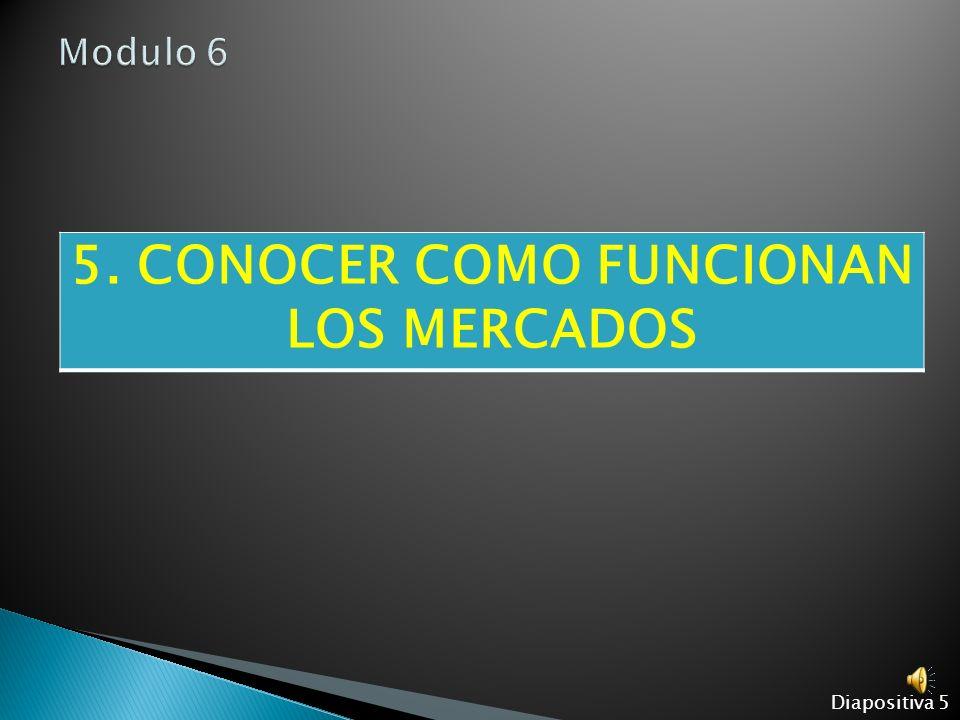 5. CONOCER COMO FUNCIONAN LOS MERCADOS