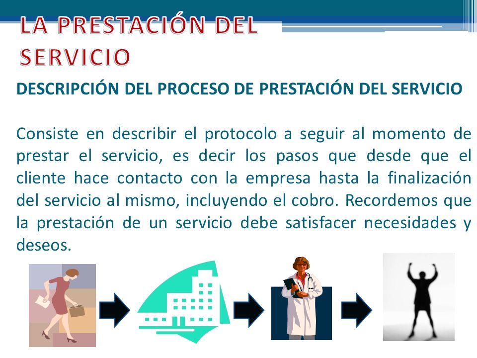 LA PRESTACIÓN DEL SERVICIO