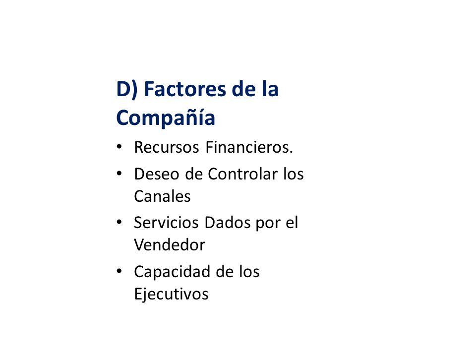 D) Factores de la Compañía