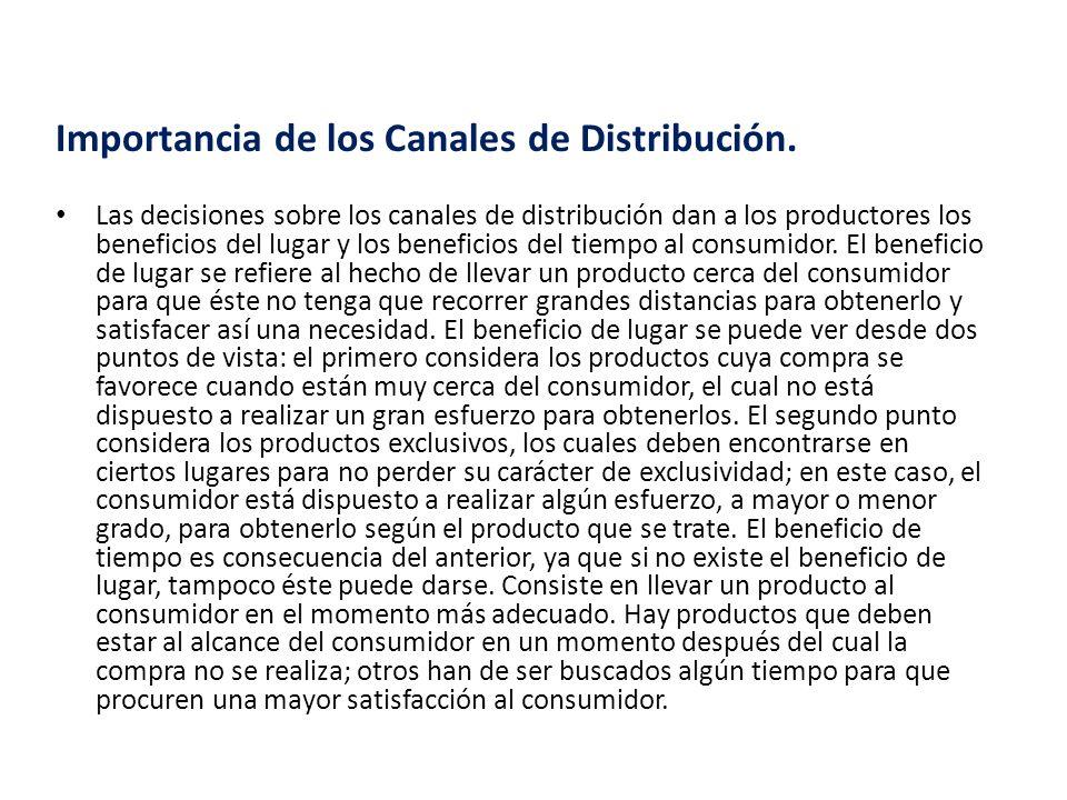 Importancia de los Canales de Distribución.