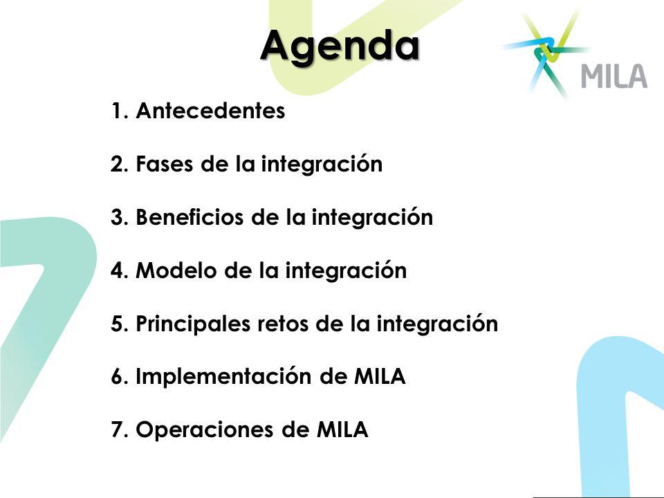 Agenda 1. Antecedentes 2. Fases de la integración